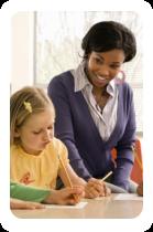 Teacher teaches her pupils